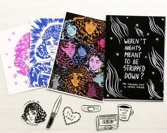 Ink Drawings Zine + Sticker Pack