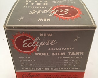 Film Equipment, Film Collectibles, Vintage Photography Equipment, Adjustable Roll Film Tank, Film Tank, Eclipse Film Tank, Photography Items