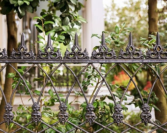 Large Living Room Art, New Orleans Art, Garden District Photograph, Wrought Iron Fence, Garden Home Decor, New Orleans Gift, Anne Rice House