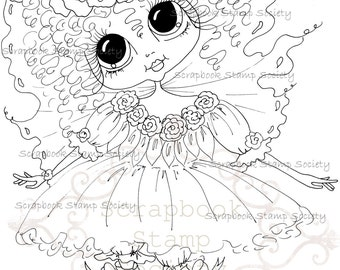 INSTANT DOWNLOAD Digital Digi Stamps Big Eye Big Head Dolls Messy Bessy IMG828 My Besties By Sherri Baldy