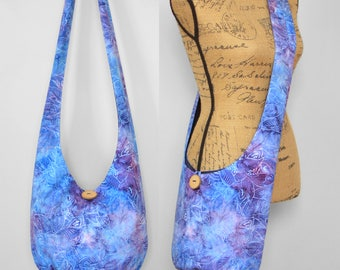 MADE TO ORDER Hobo Bag Cross Body Bag Hippie Purse Sling Bag Boho Bag Hobo Purse Hippie Bag Floral Hobo Bag Handmade Bag Batik Bohemian Bag