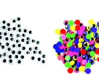 360 Craft Eye Wiggly Wobbly Googly Eyes SELF ADHESIVE