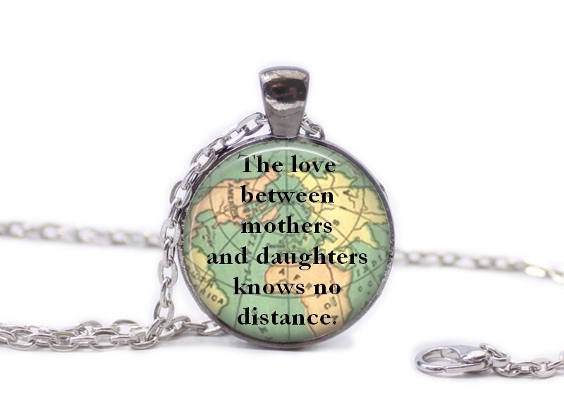 Mother and daughter necklace map jewelry travel necklace world zoom gumiabroncs Image collections
