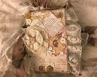 5x8 Chunky Correspondence Mixed Media Paper Junk Journal Book