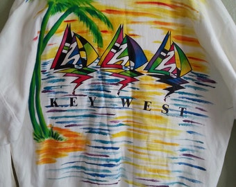 World View Graphics Key West Men's Pullover Shirt   Big and Tall