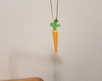 Ceramic Carrot Ornament (#848)