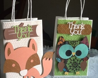 Owl Party/Woodlan Creatures Treat Bags (Set of 6+)