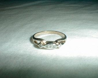vintage j.esposito edwardian style engagement ring wedding band crystal ring filigree ring sz.7 ring sparkling crystal ring antique style