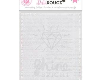 Pink Paislee Bella Rouge - Embossing Folder  -- MSRP 5.00