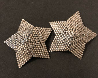 Black Diamond Rhinestone Star Burlesque Pasties