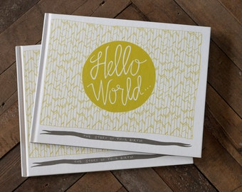 Hello World Baby Journal