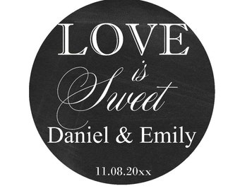 Wedding Favor Labels Thank You Stickers  Round Labels Wedding Stickers Personalized Stickers Wedding Stickers for Favors Thank You Labels