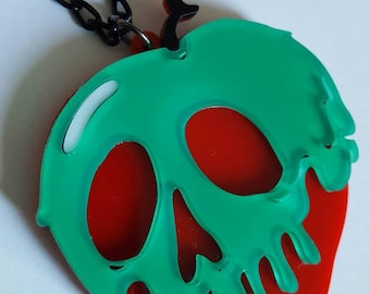 Snow White poison apple inspired necklace