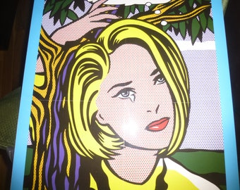Roy Lichtenstein's I'm Sorry - Boston Museum of Fine Art Promo Poster Mounted and laminated on foam backing board with hanging wire