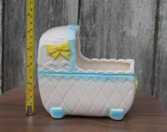 Ceramic Baby Boy Blue planter