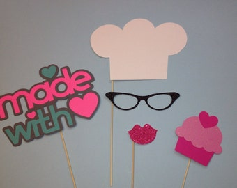 Photo Booth Props - 5 Piece Chef Set - Chefs Hat - Photobooth Props