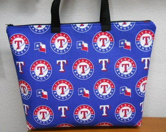 Texas Rangers Lunch Bag / Insulated / Embroidery INCLUDED / Baseball Lunch Box