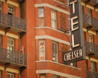 New York Photography, Chelsea Hotel Photo Nyc Orange Autumn Manhattan Wall Art Home Decor Fine Art Print nyc72