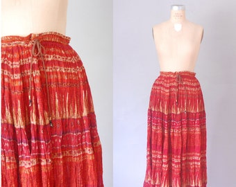 Parma cotton gauze skirt | gauze festival skirt | vintage indian skirt