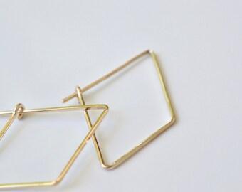 Small Hoop Earrings Geometric Hoops Simple Gold Hoop Earrings Small Gold Hoops Small Gold Earrings Simple Gold Earrings Diamond Earrings