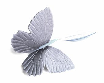 BUTTERFLY SHAPED SILK AND ARMOR 55 LAVENDER SATIN / 80MM