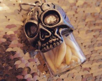 Mink teeth pendant