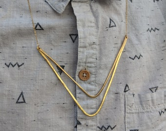 Sharon Necklace // Brass Necklace