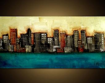 Custom Original Painting - Modern Abstract Art by SLAZO - 24x48 - Made to Order