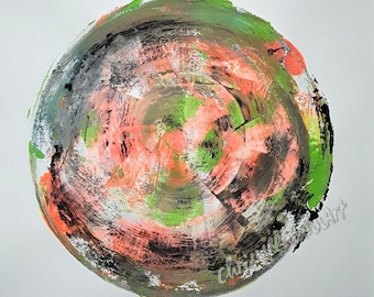 Title: Circle # 2, 24 x 24, abstract painting, acrylic
