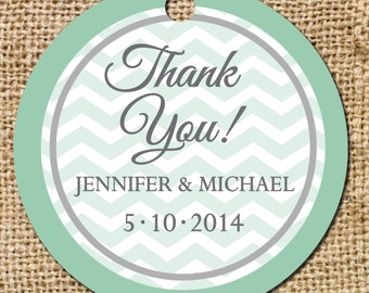 Border Chevron Gift or Favor Tag - Set of 10