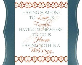 Blessings, Typography Art, 5x7 or 8x10