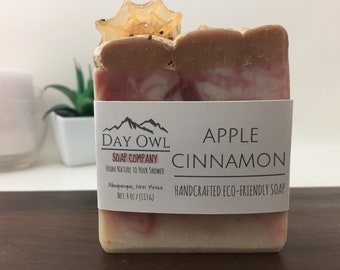 Apple Cinnamon %100 Organic Soap, Cold Process Soap, Vegan all Natural Soap, Cocoa Powder Soap, Apple Soap, Spider Web, Organic Soap,