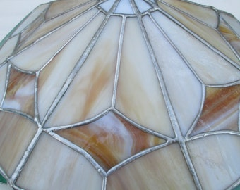 Stained Glass Flush Mount Ceiling Lamp