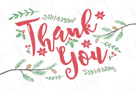 Christmas Baby Shower Thank You Card Christmas Thank You Card