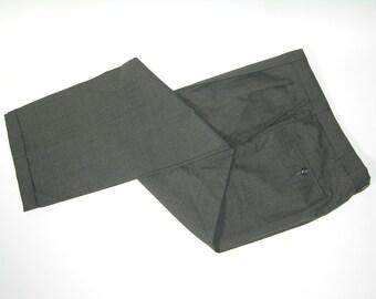 "vintage 1980's Men's wool dress pants. Tone-on-tone Gray. Diagonal stripe w/ windowpane. 34"" waist. Wicked cool..."