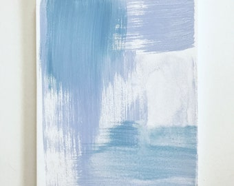 """Original Abstract Painting on Canvas """"Blue Brushtrokes"""""""