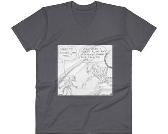 XENOMORPH V-Neck T-Shirt