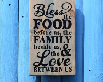 Handmade Reclaimed Wooden pallet sign Bless Theme Words Wall Hanging Sign