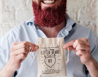 Glitter Beard Kit (Gold)