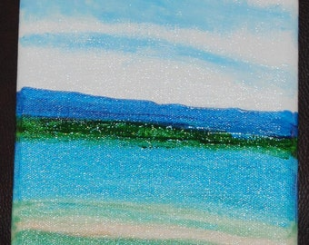 "Calm Waters, 12""x6"" canvas"