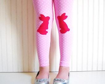 Easter Bunny Leggings. Girls Easter Clothing. Leggings for Easter. Girls Leggings. Toddler Bunny Leggings. Bunny Leggings, Girls Easter Gift