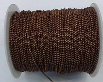 33 Feet -10 Meter Copper Plated  1.5 mm Ball Chain