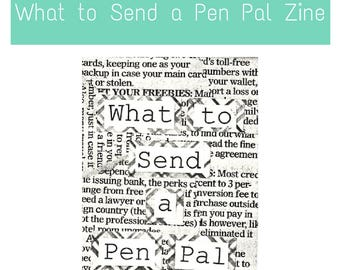 Pen Pal Zines: What To Send A PenPal - creative ideas of gifts to send your fountain pen and pen holder friend, letter writer,