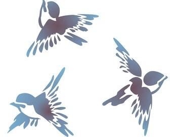 Stainless Steel bird stencil,stainless steel stencil,embossing template,Art shape ruler, filofax Making , Multifunctional ruler