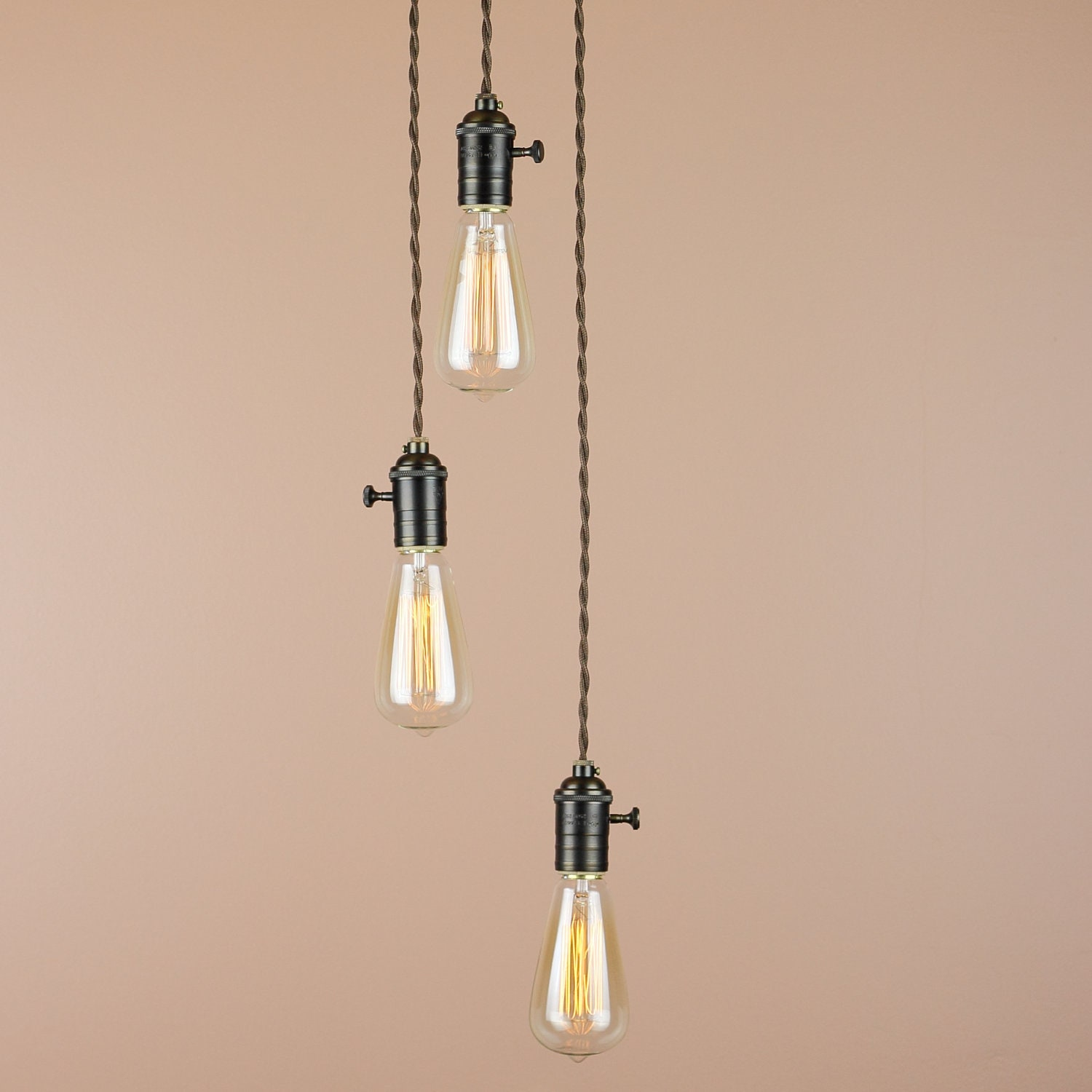 pendant vintage lamp head retro itm single light industrial rope edison ceiling