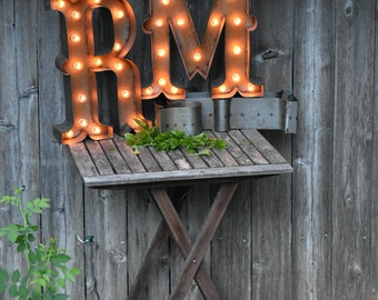 IN STOCK SALE Metal Letter Marquees Lighted Letters Mixed Magnolia Style Letter Decor Farmhouse Vintage Inspired