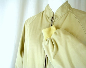 Vintage Tan Mens Lightweight Jacket, Size XL