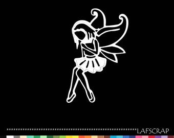 Cut out fairy character wing cutout paper decoration die cut embellishment scrapbooking