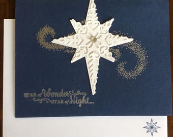 Christmas, Star, Star of Light, Religious, Handmade, stampin up, card