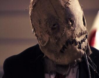 Nolan-Batman Burlap Scarecrow Mask